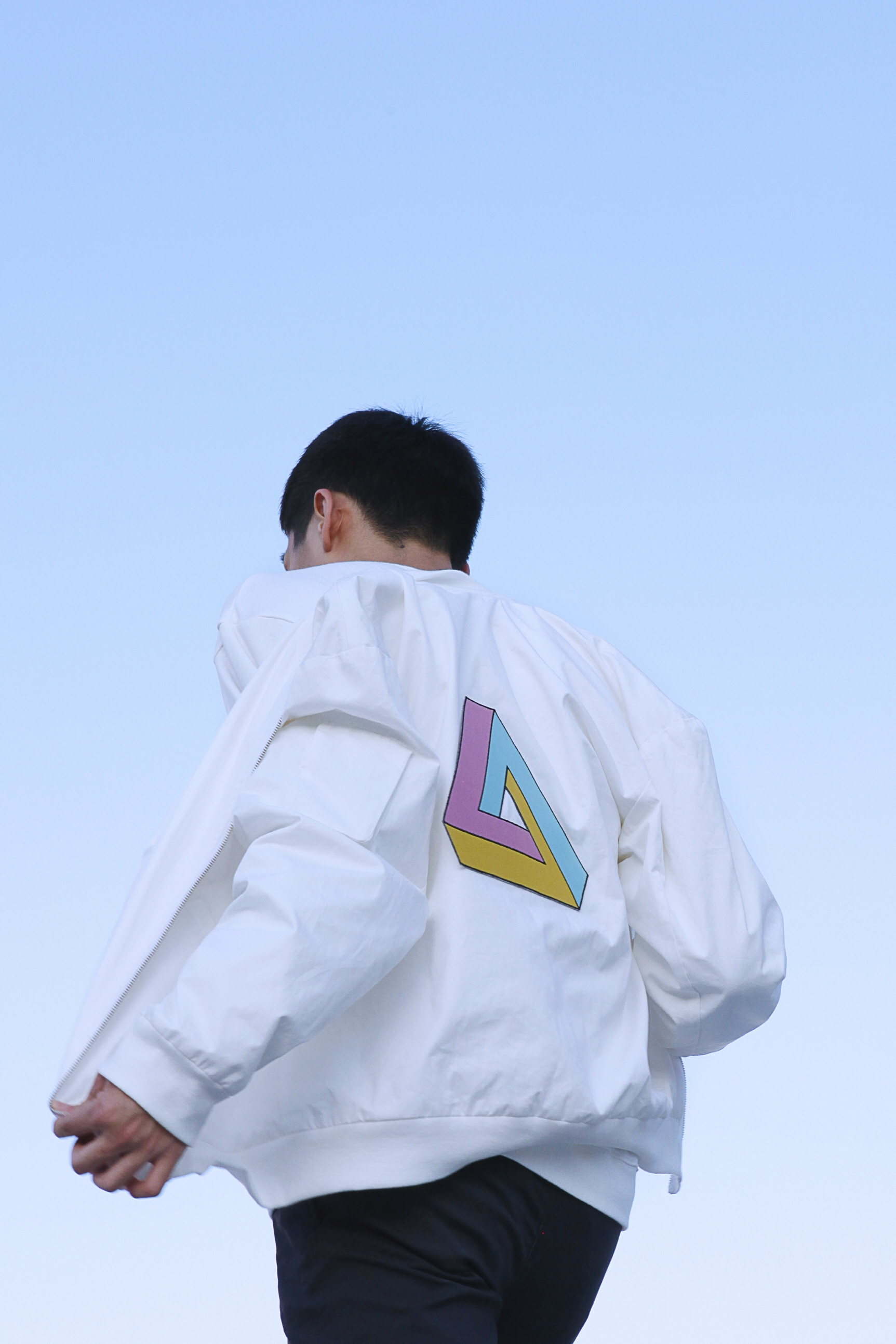 triangle blouson jacket MA-1