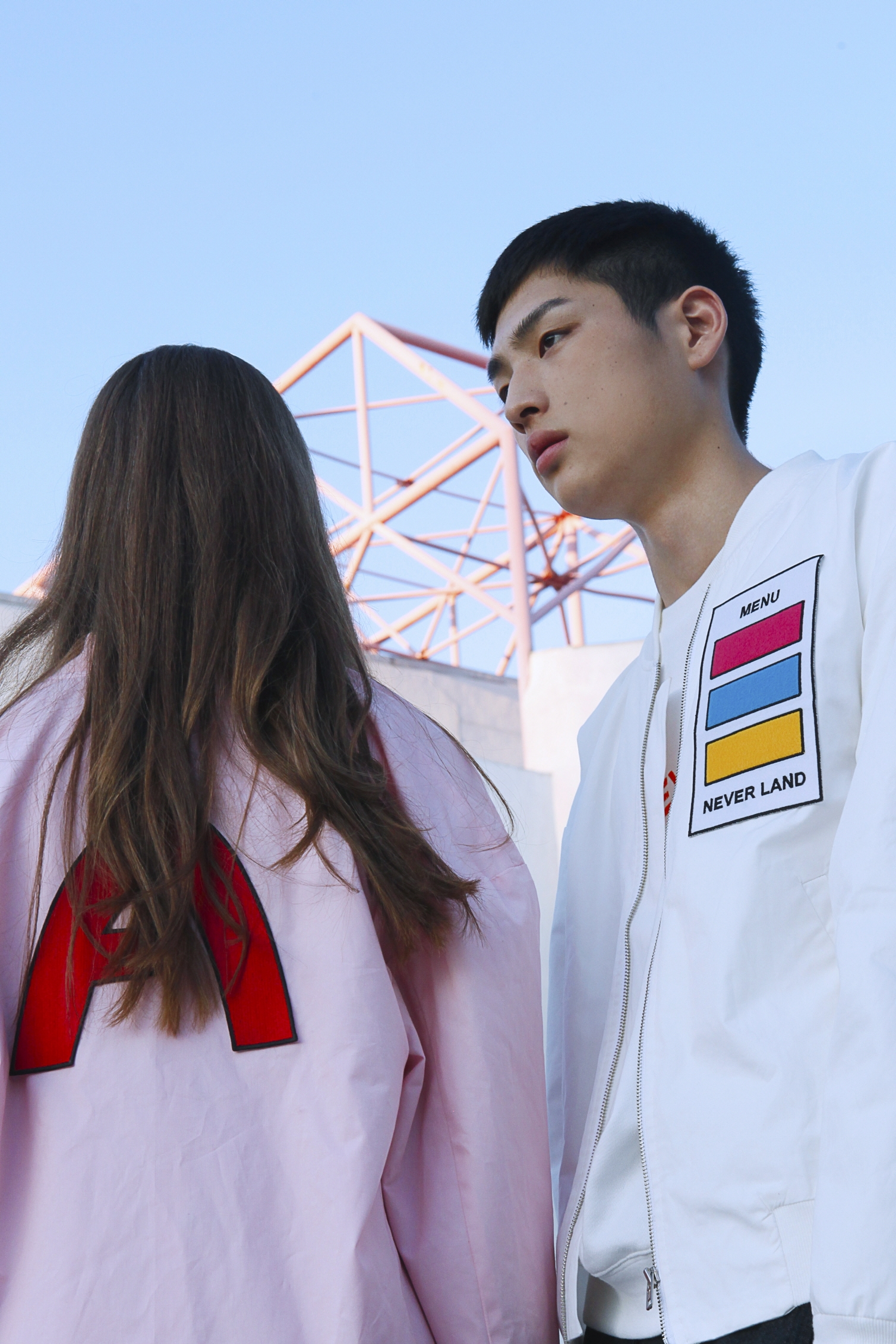 color chip point jacket MA-1