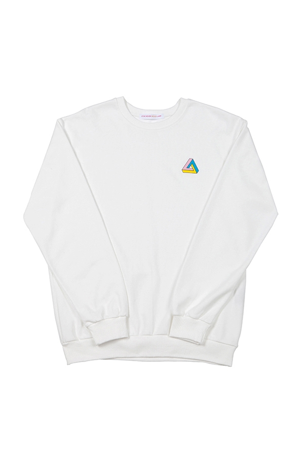[EDITION] triangle sweatshirt ivory