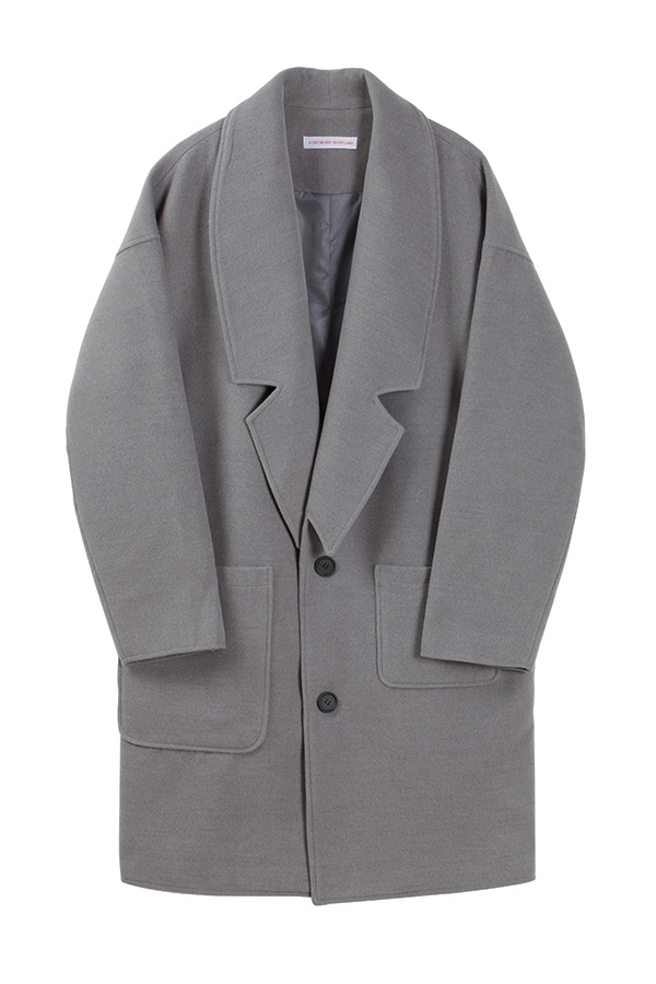Big pocket wool coat GREY