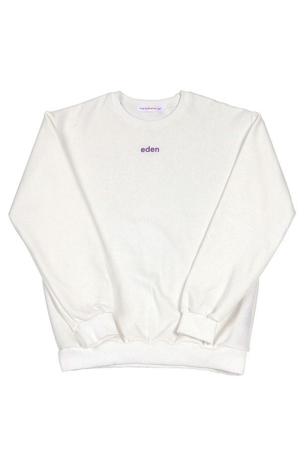 eden winter sweatshirt white (기모맨투맨)
