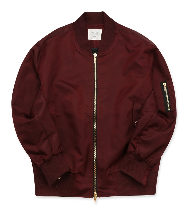 [16S/S] NEVERLAND MA-1 JACKET WINE