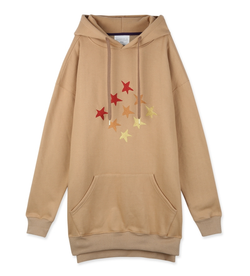 [16S/S] 9STAR BIG HOOD SWEATSHIRT BEIGE