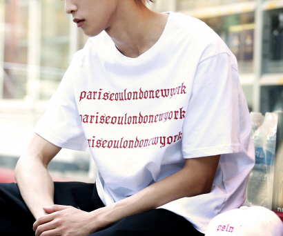 [4차입고완료]psln half sleeve T-shirt (RED)