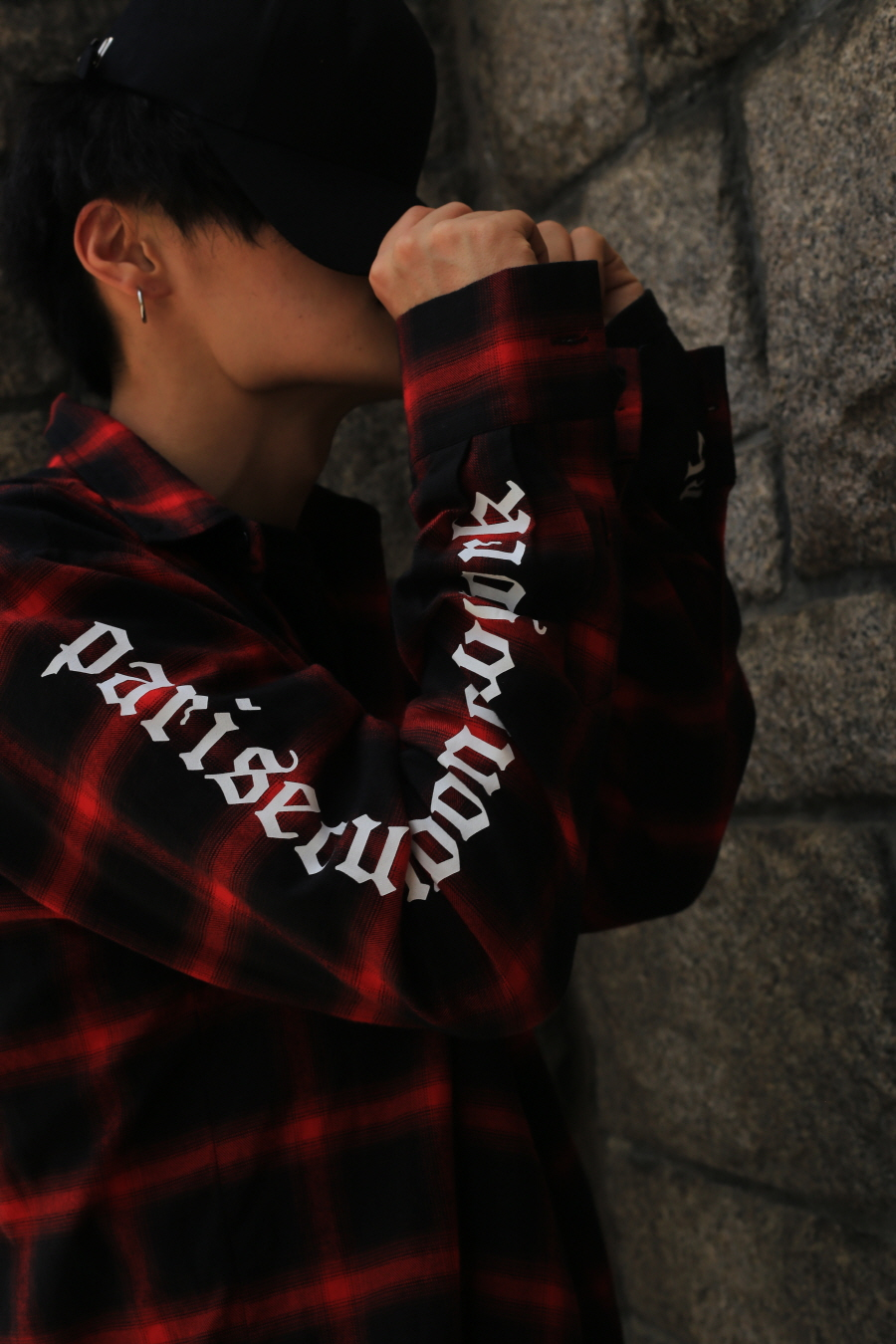 psln tartan check shirt red