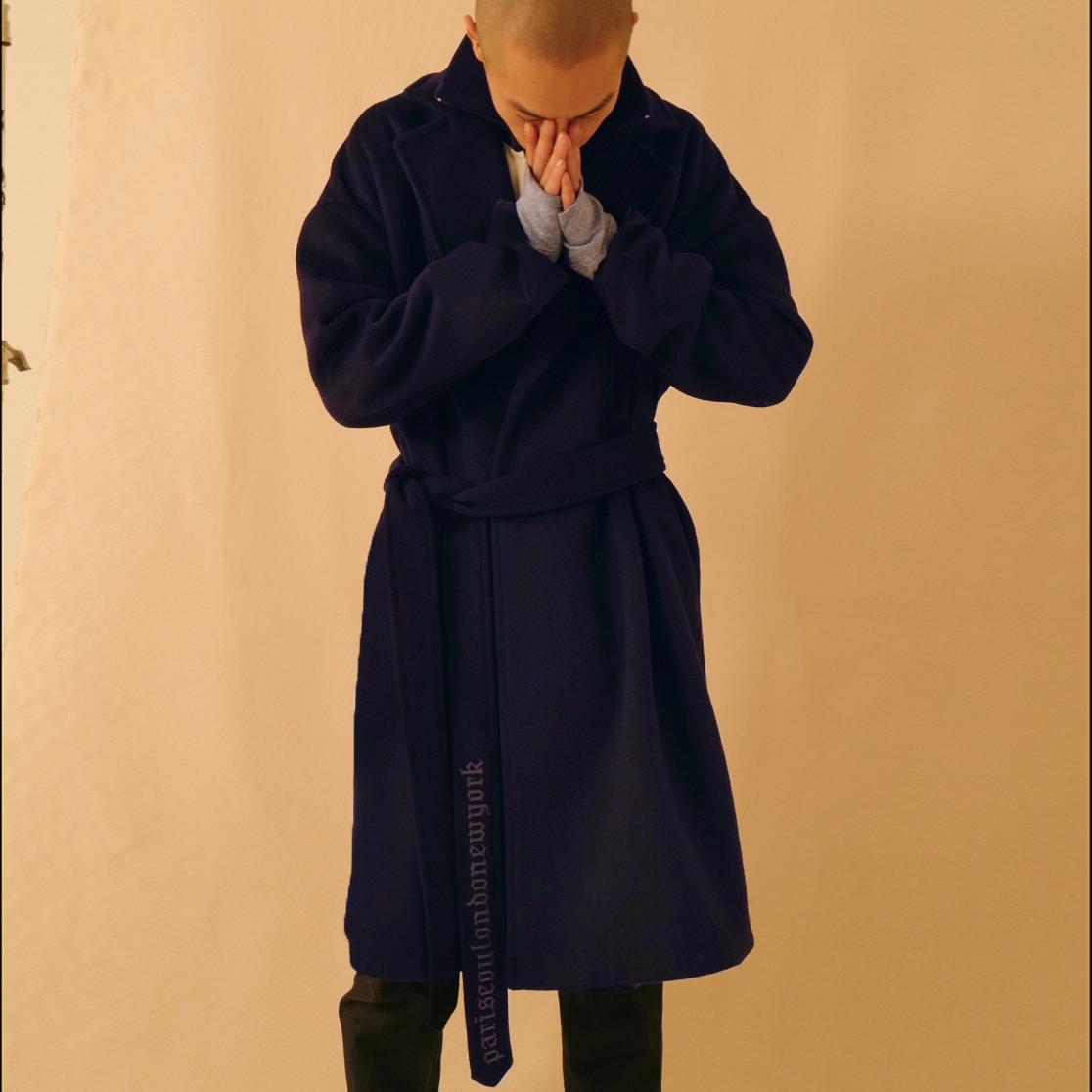 psln robe coat navy