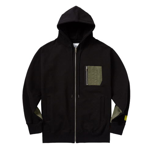 PSLN SYNC ZIP UP HOOD BLACK