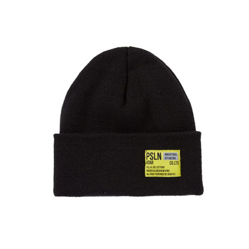 PSLN LONG BEANIE BLACK