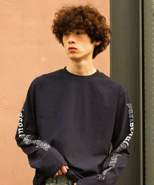 [UNISEX / 7 COLOR]PSLN LONG-SLEEVE T-SHIRT NAVY