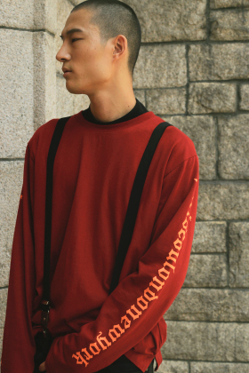 [UNISEX /  7 COLOR]PSLN LONG-SLEEVE T-SHIRT BURGUNDY