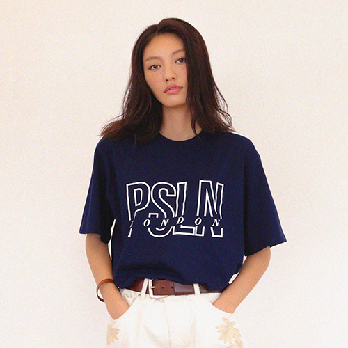 [2차입고][UNISEX]PSLN LONDON T-SHIRTS NAVY