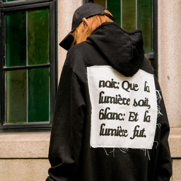 [품절]BLANCNOIR PATCH HOOD