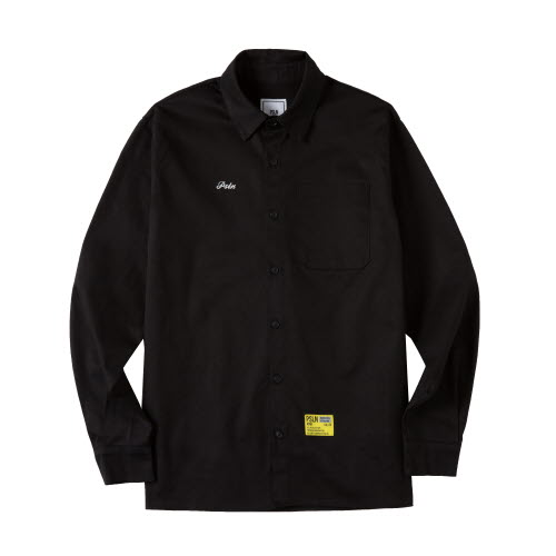 [UNISEX]PSLN SYNC OXFORD SHIRT BLACK